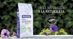 Envase 100% compostable para el café ecológico MASCAF