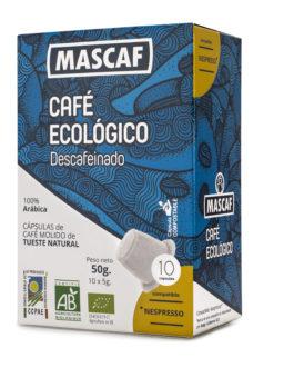 Café ECOLÓGICO CAFÉ MASCAF Cápsulas compatible Nespresso Descafeinado