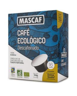 Café ECOLÓGICO CAFÉ MASCAF Cápsulas compatible Dolce Gusto Descafeinado