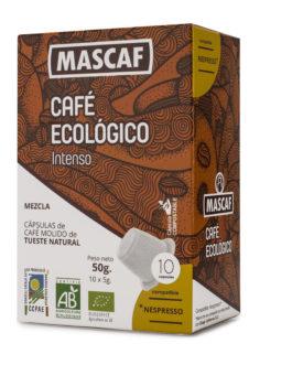 Café ECOLÓGICO CAFÉ MASCAF Cápsulas compatible Nespresso Intenso