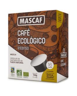 Café ECOLÓGICO CAFÉ MASCAF Cápsulas compatible Dolce Gusto Intenso