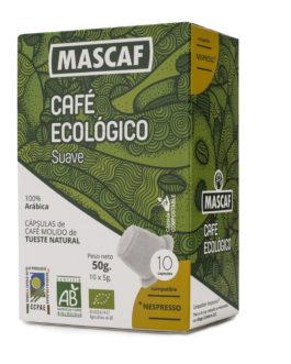 Café ECOLÓGICO CAFÉ MASCAF Cápsulas compatible Nespresso Suave