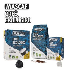 Café ecológico Mascaf Descafeinado sin productos químicos