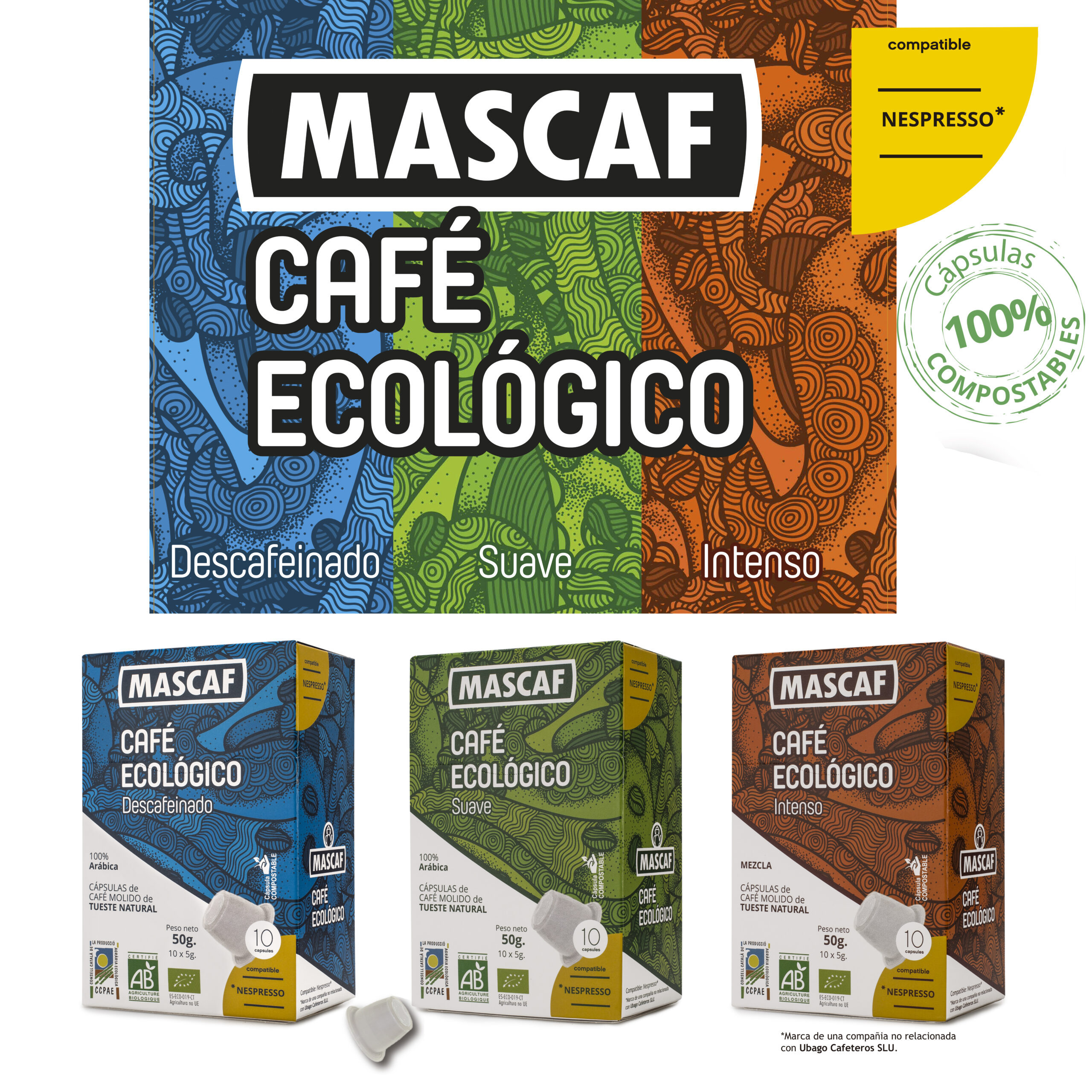 Cápsulas compostables compatibles Nespresso